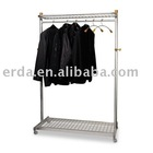 Two-Sided, Two-Shelf Cloth Rack