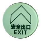 glass luminous exit sign