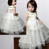 Pleated Bodice with Buttoms Ruffled Skirt baby dress
