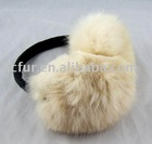 Wheat rabbit fur earmuffs