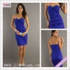 2100-1hs 2012 Newest Style Sweetheart Beading Blue Taffeta Sheath Knee Length Ruching european cocktail dresses