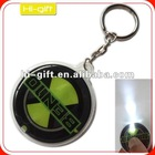 custom promotion gift pvc led light keychain