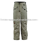 Men's taslon casual pants with PU coated