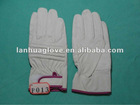 Pig grain leather working gloves with shock absorption back