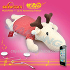 Educational child toy!Electronic toy!Washable Speaker Pillow-Hornie Deer/Christmas Reindeer - CE SGS ROHS
