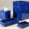 Gemstone lapiz lazuli semi precious stone tissue box