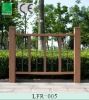 Eco- wood plastic composite(wpc) railing vinyle fences,plastic railing woodgrain environment friendly water proof