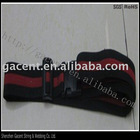 2-dial locked luggage strap and luggage belt with off-set logo