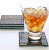 square glass mosaic coasters