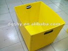 Customized stacking corrugated plastic bin