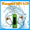 LCD Display Waterproof MP3 Player IPX8 FM Radio for Swimming Water Sports