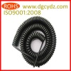 Black PU Multicore Coiled Power Cord
