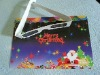 Christmas card with spectrum separated 3d glasses(LSP1SP)
