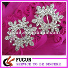 snowflake christmas decorative rhinestone buckle