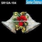 sparkling glittery tinsel & sisal LED christmas bell light christmas Decoration (Outdoor MOQ: 200PCS , GS/CE/UL)