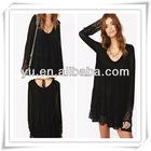 2013 Summer Latest Ladies Black Chiffon Dress,Ladies Causal Dress