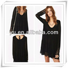 2013 Summer Latest Ladies Black Chiffon Dress,Ladies Causal Dress