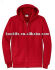 Red Hooded sweatshirt with zip