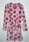 Girl's 100% Polyester Fleece Bathrobe 3500pcs-KF3373