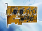 PCI DVR board 4ch 100pfs D1 resolution