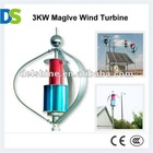 M 3KW home wind turbine mini wind generator maglev wind