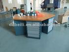 wood top steel hexangular work bench AX-3333