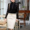 Pencil skirt for office lady good sell ladies fashion skirt