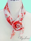 fashion stock scarves with floral prints for girls