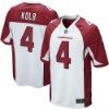 Men NO.4 Kevin Kolb Game White Jersey
