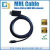 MHL to HDMI cable for samsung galaxy s2 MHL hdmi adapter