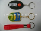 Fashion silicone car keychain pendant