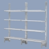 Aluminum cantilevered shelving