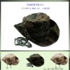 camo nylon wide brim hiking fisherman bucket hats ccap-0428