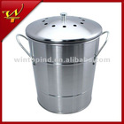 0.8 Gallon Stainless Steel Compost Pail