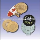 Golf Cap Clip with Metal Badge