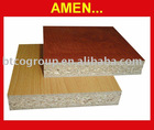 Plain/Raw Chipboard coated with melamine veneer used for furniture