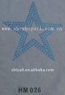 star heat transer sequins motif
