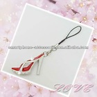 Red high-heeled shoes mobile charm ,mobile charm manufacture,suppliers