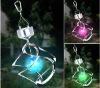 Color changing wind spinner LED solar light garden decorative SO6181