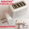 travel charger with 4 usb port and 2.1a output current for US market