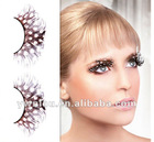 "1"" Long Dark Brown Polka DOT Feather Eyelashes"