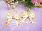 Colorful elastic ribbon bow tie(elastic bow tie)