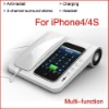 3-Channel Surround Stereo Amplifier & Charger For iPhone4/4S