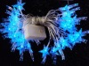 Blue flower set LED meteor Christmas lights