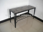With marble paper sofa table