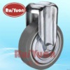European type indoor,Thermoplastic rubber wheel,bolt hole,rigid caster wheels