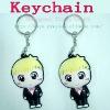 Lovely 3D litte boy pvc keychains