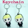 Lovely 3D litte boy pvc keychains