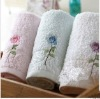 100% cotton embriodery soft color face towel