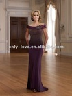 gorgeous off shoulder jeweled beads on the bodice mother evening dress OLM118